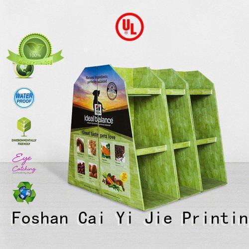 CAI YI JIE promoting clip pallet display pallet corrugated