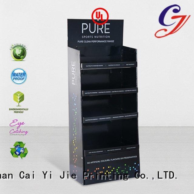 cardboard greeting card display stand tube CAI YI JIE Brand cardboard stand