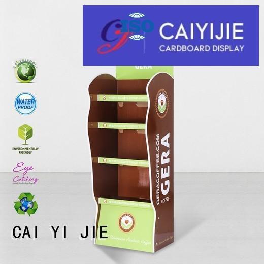 cardboard greeting card display stand printing cardboard cardboard stand stands CAI YI JIE Brand
