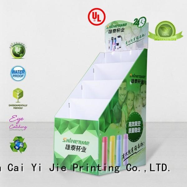 Custom cardboard cardboard stand printed CAI YI JIE