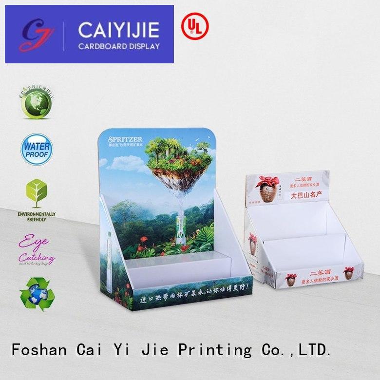 displays retail products CAI YI JIE Brand custom cardboard counter displays factory