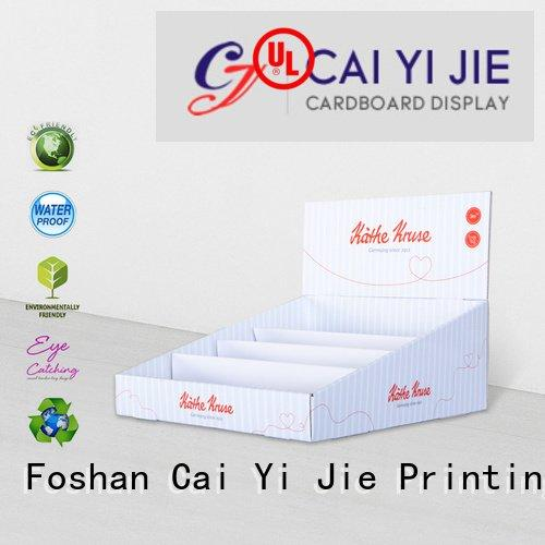 CAI YI JIE marketing cardboard display boxes countertop displays