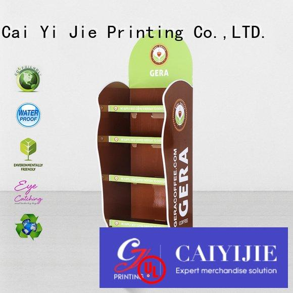 cardboard greeting card display stand super cardboard stand CAI YI JIE