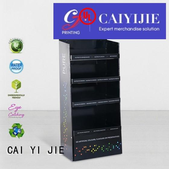 Wholesale clip stores cardboard stand CAI YI JIE Brand