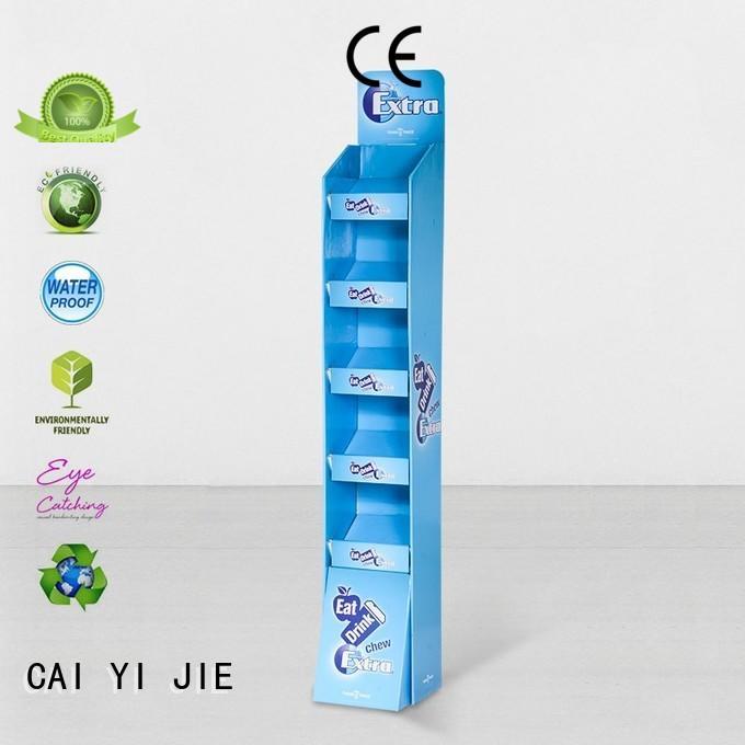 CAI YI JIE corrugated cardboard floor display operation