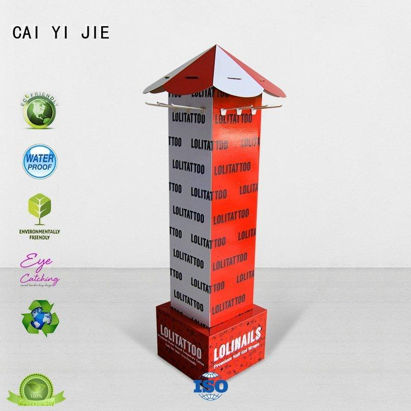 CAI YI JIE custom cardboard products hook stands for phone accessories