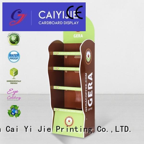 Wholesale plastic product cardboard stand CAI YI JIE Brand
