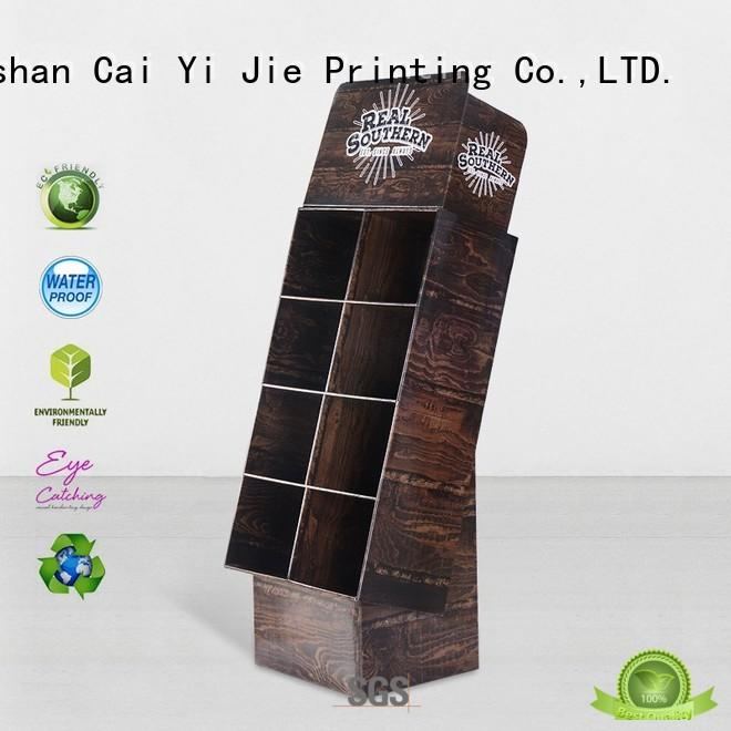 CAI YI JIE cardboard poster stand operation for socket selling