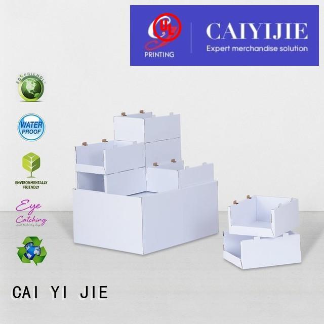 product retail carton cardboard pallet display CAI YI JIE manufacture