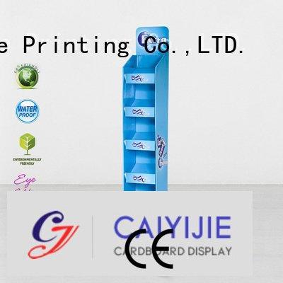 Quality cardboard greeting card display stand CAI YI JIE Brand stand cardboard stand