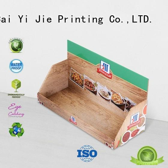 CAI YI JIE cardboard counter display boxes stands boxes for marketing