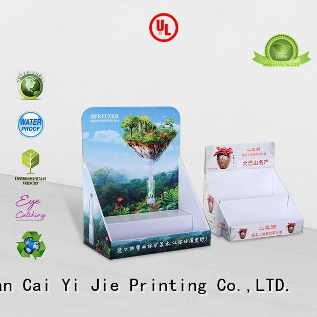 CAI YI JIE grocery cardboard display boxes stands boxes for stores