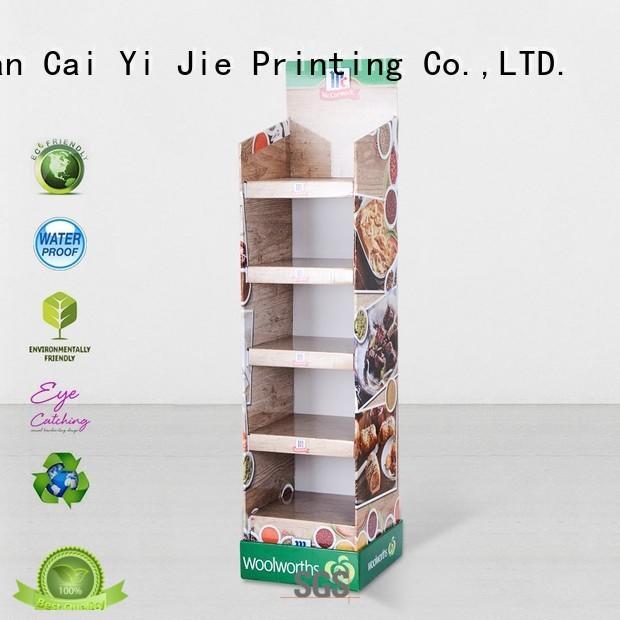 CAI YI JIE Brand space clip retail cardboard stand manufacture