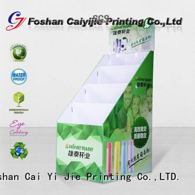 corrugated floor displays floor for kitchen supplies CAI YI JIE