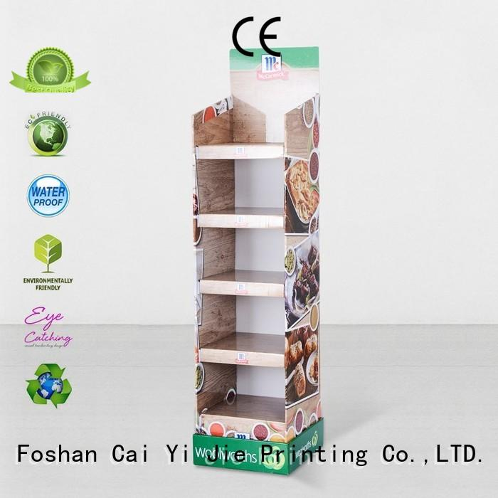 CAI YI JIE cardboard poster stand pop for led light