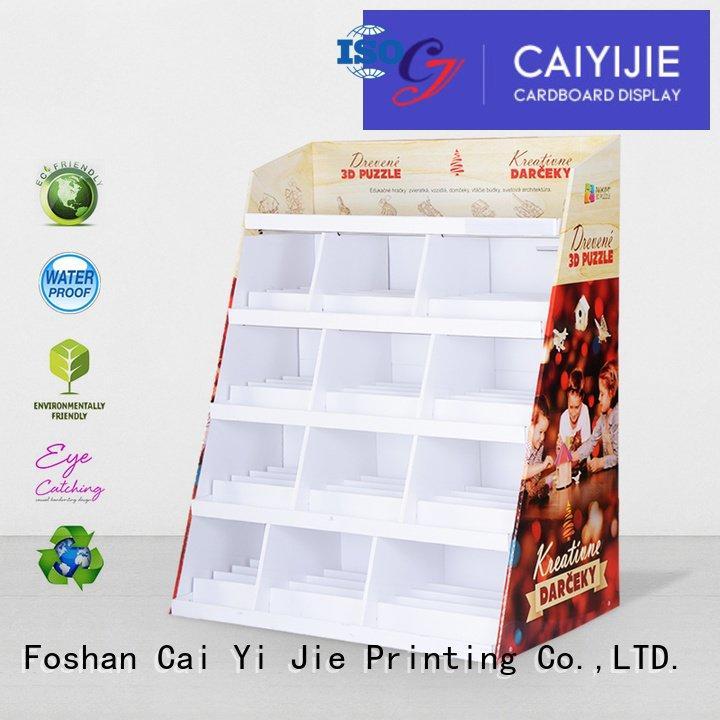 cardboard greeting card display stand space stair stiand CAI YI JIE