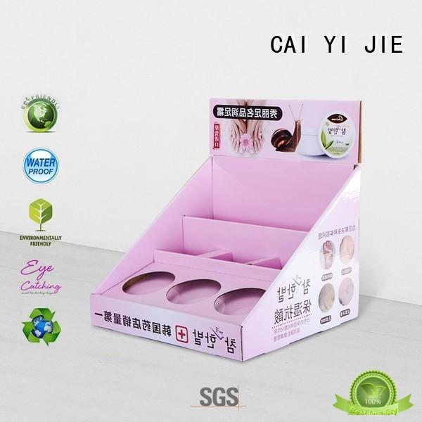 chain stands grocery CAI YI JIE Brand cardboard display boxes supplier