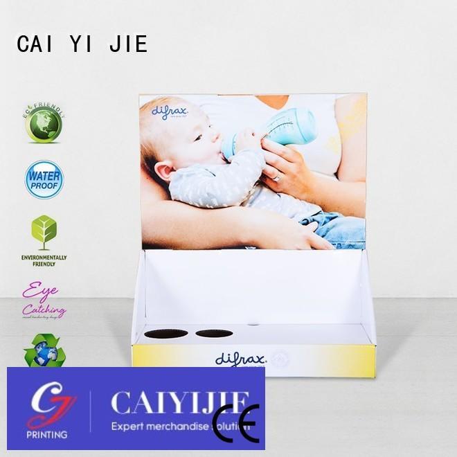 custom cardboard counter displays retail printed CAI YI JIE Brand