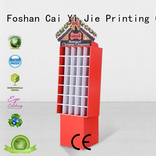 cardboard greeting card display stand plastic super stair promotional CAI YI JIE