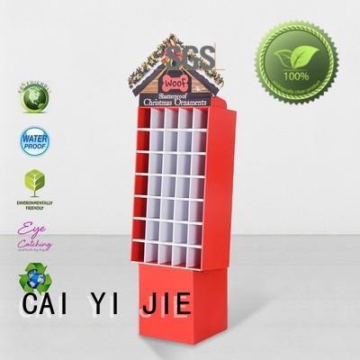 CAI YI JIE cardboard display shelves shelve for cabinet