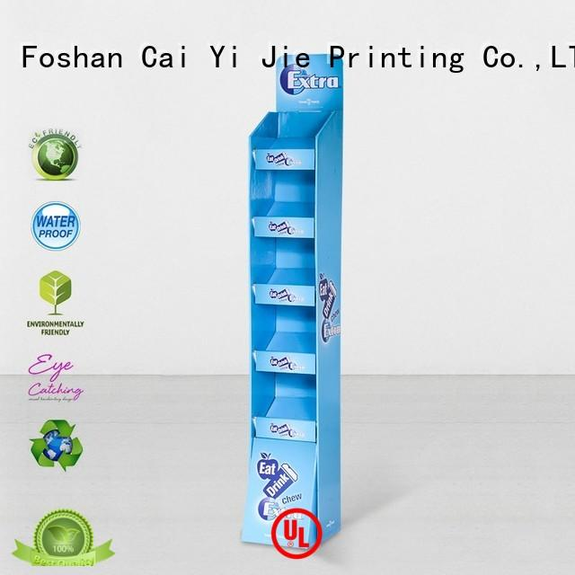 stand cardboard point of sale display stands retailing for electronic lights for grids CAI YI JIE