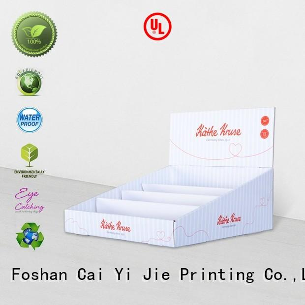 CAI YI JIE commodity cardboard book display boxes factory price for units chain