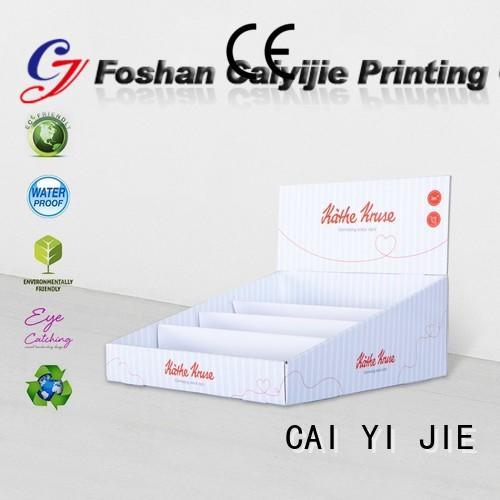 CAI YI JIE Brand marketing custom cardboard counter displays stands supplier
