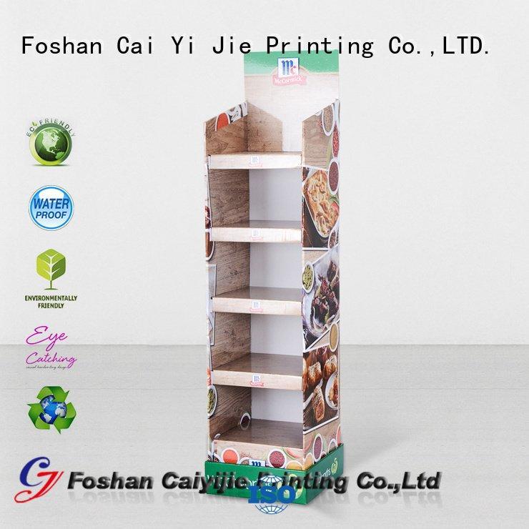 cardboard greeting card display stand stand super OEM cardboard stand CAI YI JIE