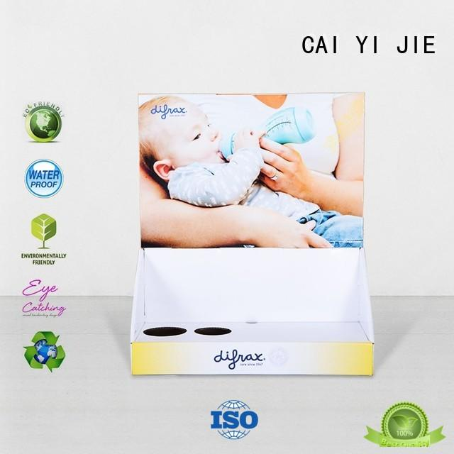 CAI YI JIE promotional custom cardboard display boxes hot-sale for stores