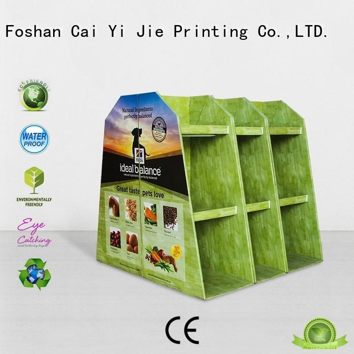 CAI YI JIE corrugated pallet display product for chain store