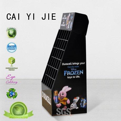 displays uv cardboard stand printing CAI YI JIE