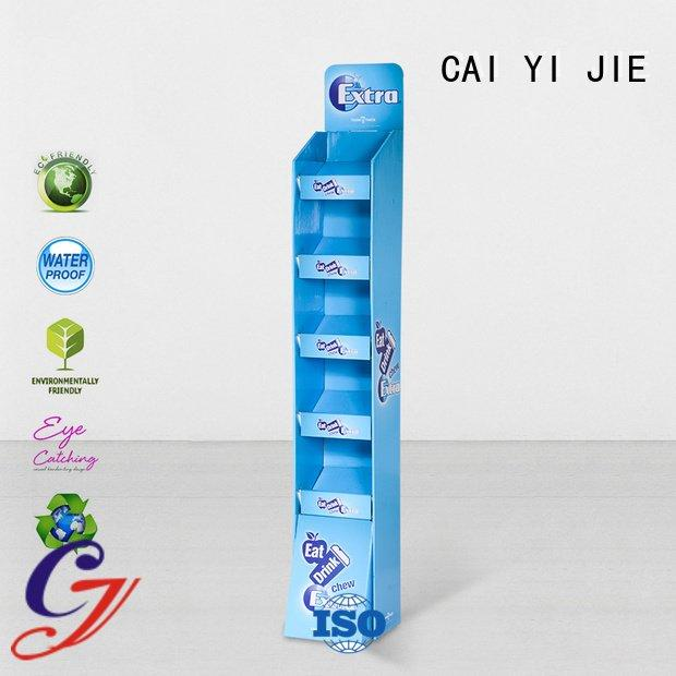 CAI YI JIE stand corrugated chain cardboard greeting card display stand retail