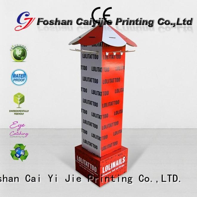CAI YI JIE printing hook display stand factory for phone accessories