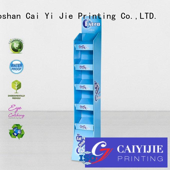 CAI YI JIE stair cardboard stand printed promotional