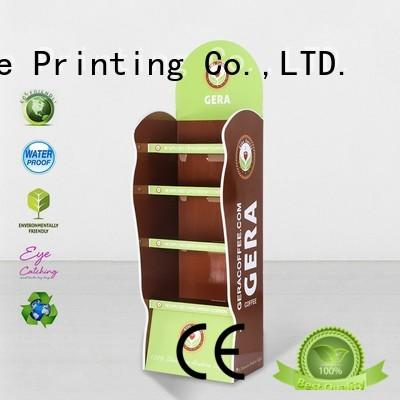 CAI YI JIE large cardboard floor display stands plastic for store