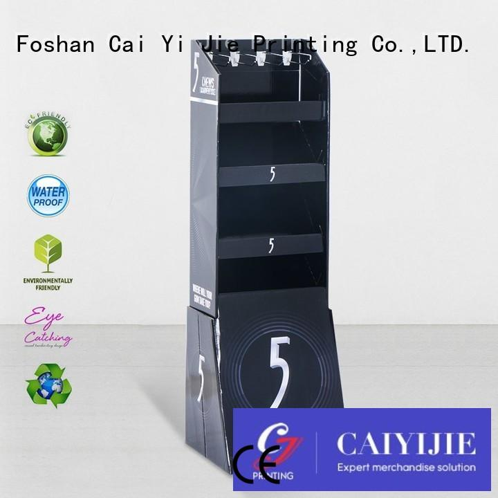 cardboard products mobile for supermarket CAI YI JIE