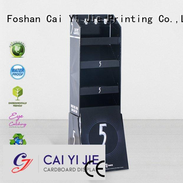 counter hook display stand supermarket step hook display stand CAI YI JIE Warranty