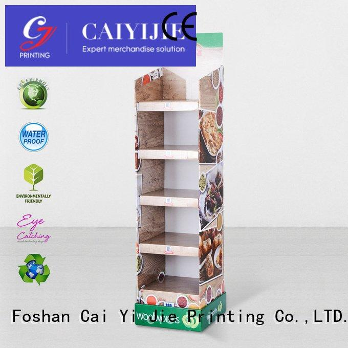 CAI YI JIE cardboard stand product stiand pop products