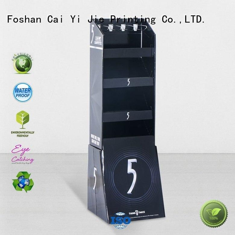 counter hook display stand color cardboard Warranty CAI YI JIE