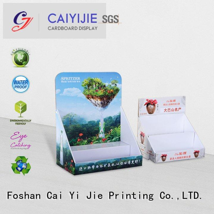 display units countertop grocery CAI YI JIE custom cardboard counter displays