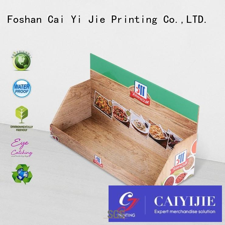 CAI YI JIE Brand retail custom cardboard counter displays products supplier