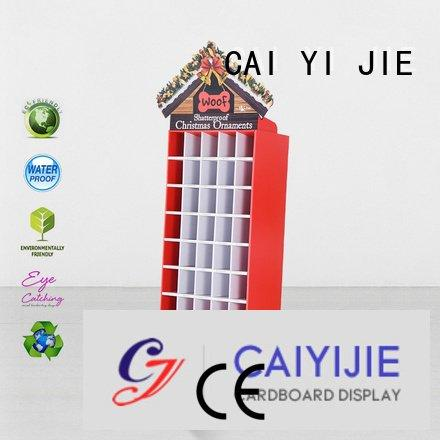 cardboard greeting card display stand stainless plastic space stiand CAI YI JIE