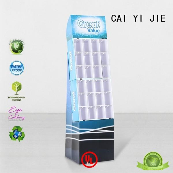 cardboard display hook display stand stair CAI YI JIE Brand company