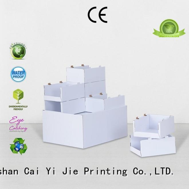CAI YI JIE mobile cardboard pallet display pallet stands for chain store