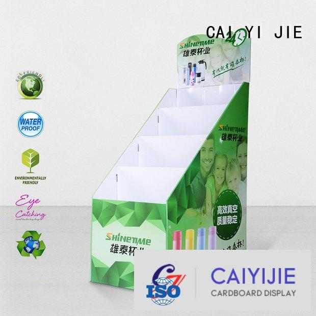cardboard greeting card display stand large cardboard stand CAI YI JIE Brand