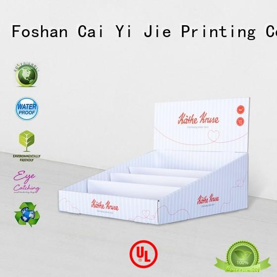 CAI YI JIE grocery cardboard display boxes stands boxes for products