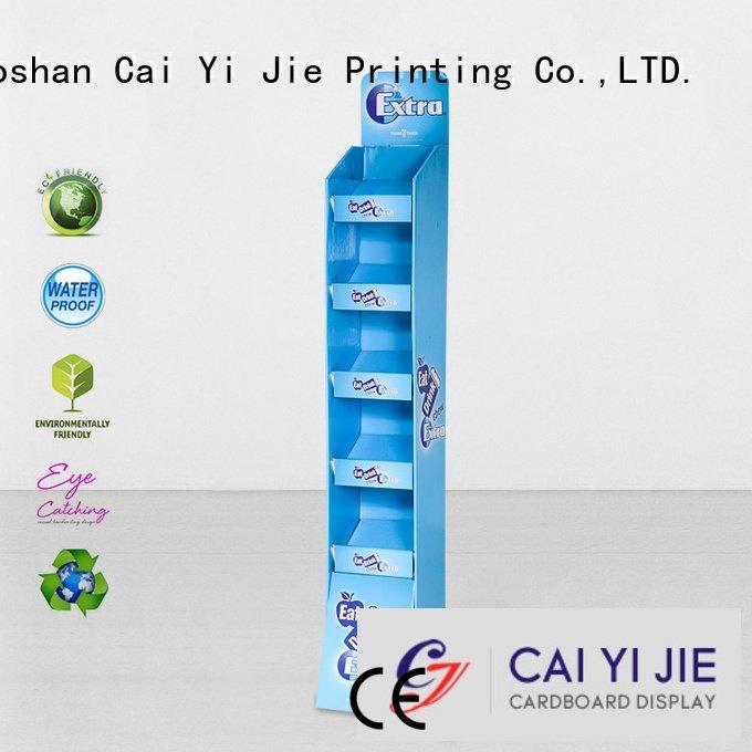 cardboard greeting card display stand display floor OEM cardboard stand CAI YI JIE