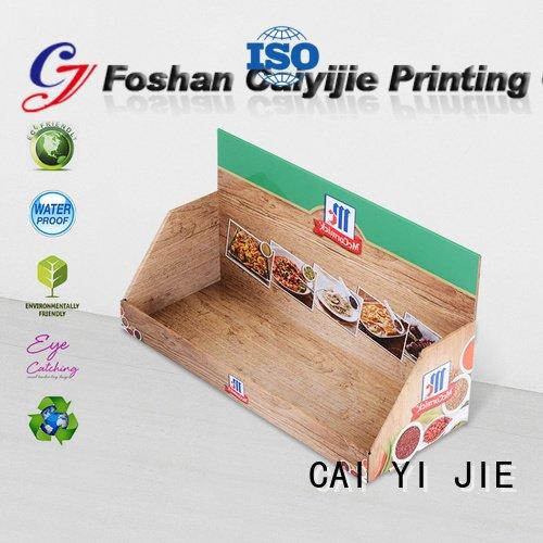 CAI YI JIE Brand supermarkets counter cardboard cardboard display boxes sale