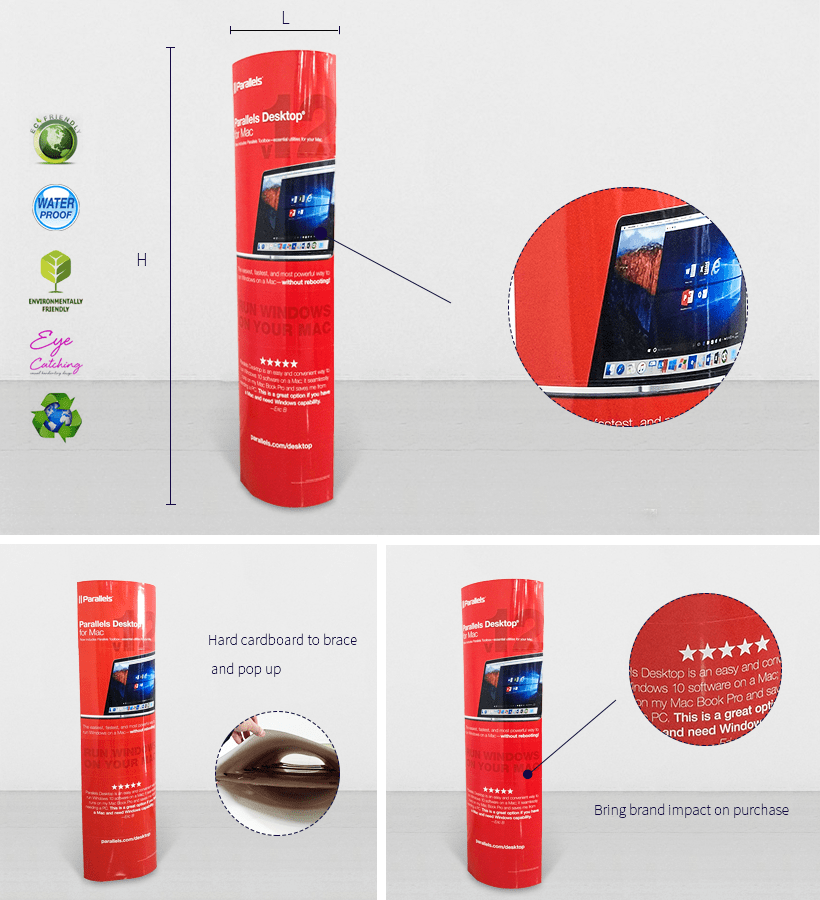 Cardboard Promotional Advertising Lama Display Stands