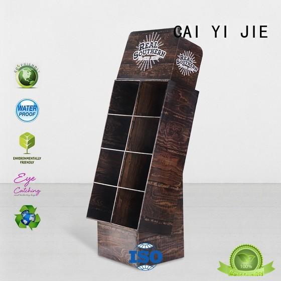 CAI YI JIE glossy custom cardboard floor displays printing for milk